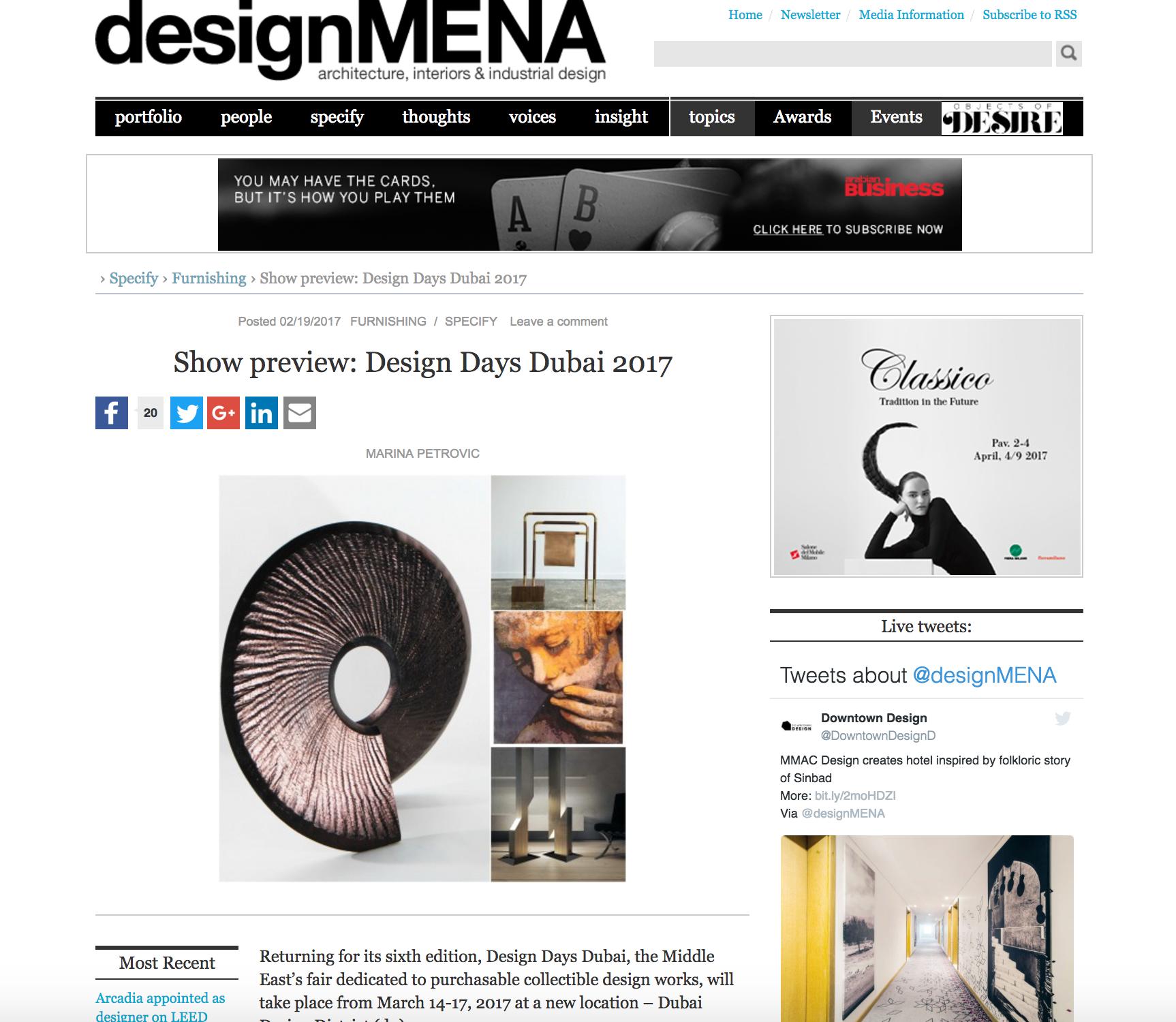 Design Days - Design Mena