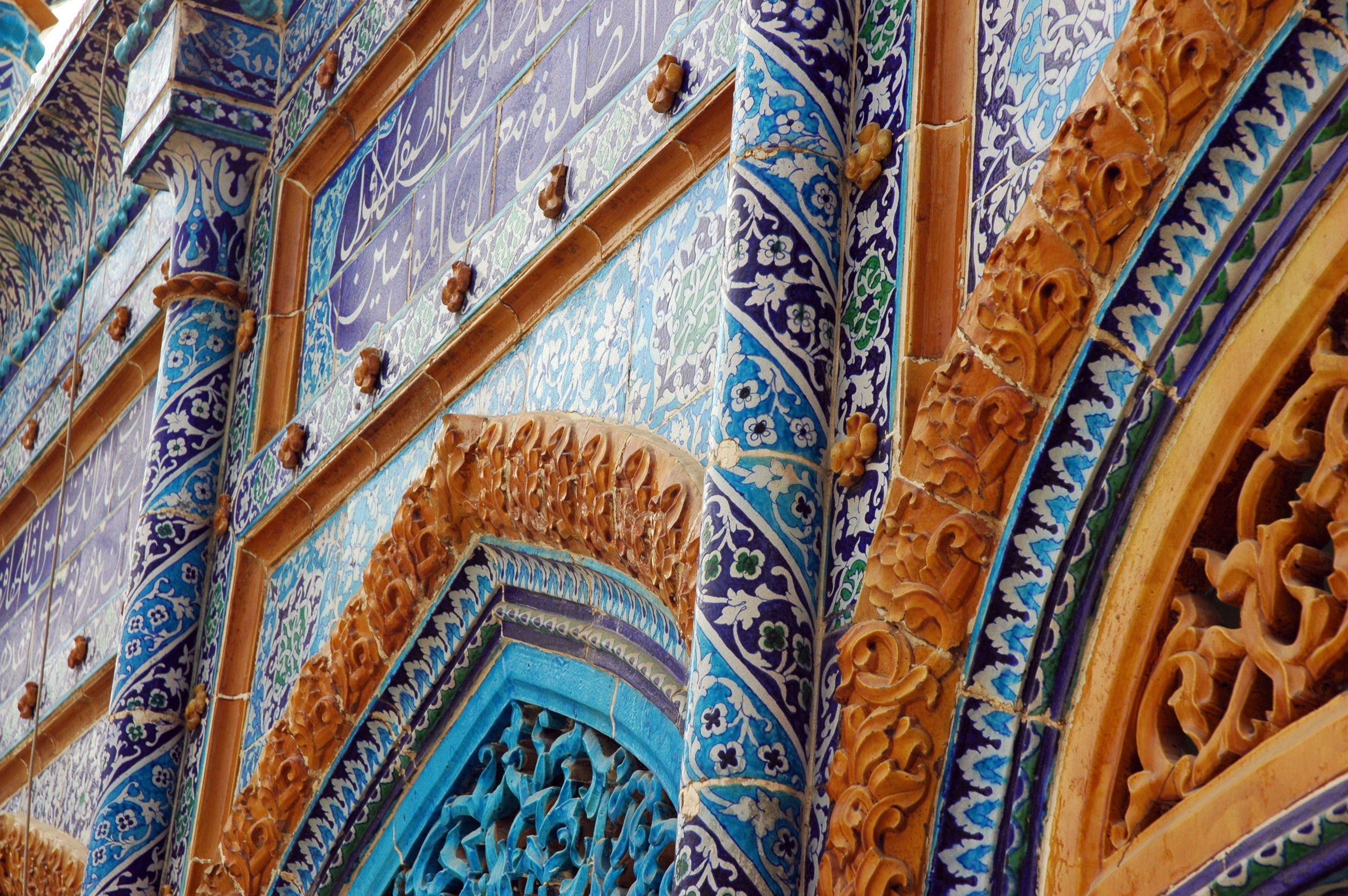 Mosque ceramic cladded by 6th generation potters in Interior Sindh, outside Karachi
