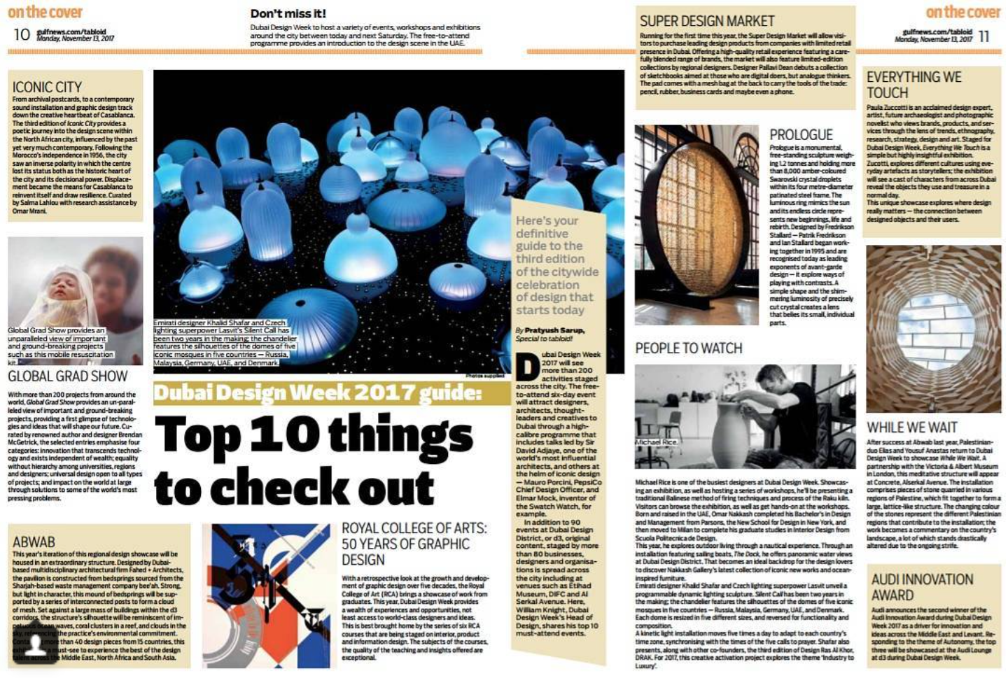 One of Gulf News' 'People to Watch' for Dubai Design Week 2017