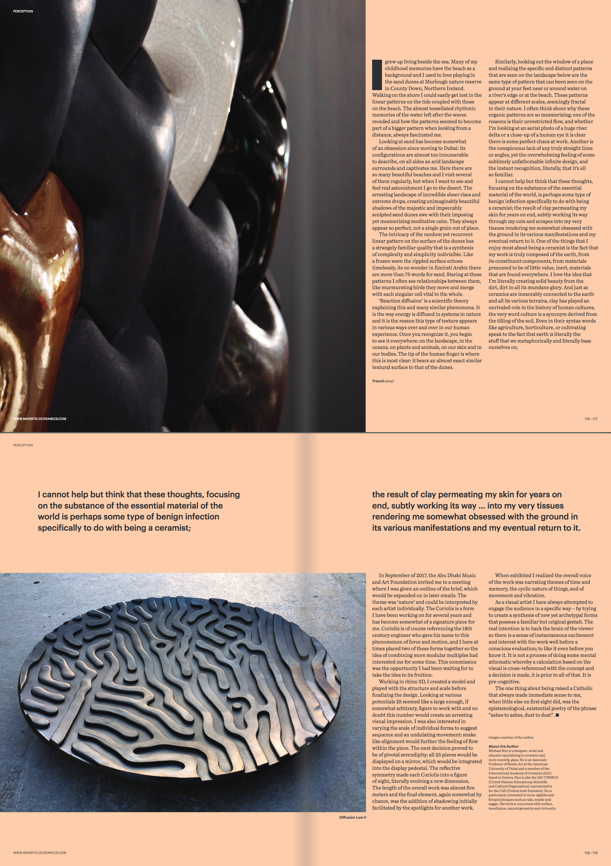 Featured in Ceramics Art and Perception edition 108