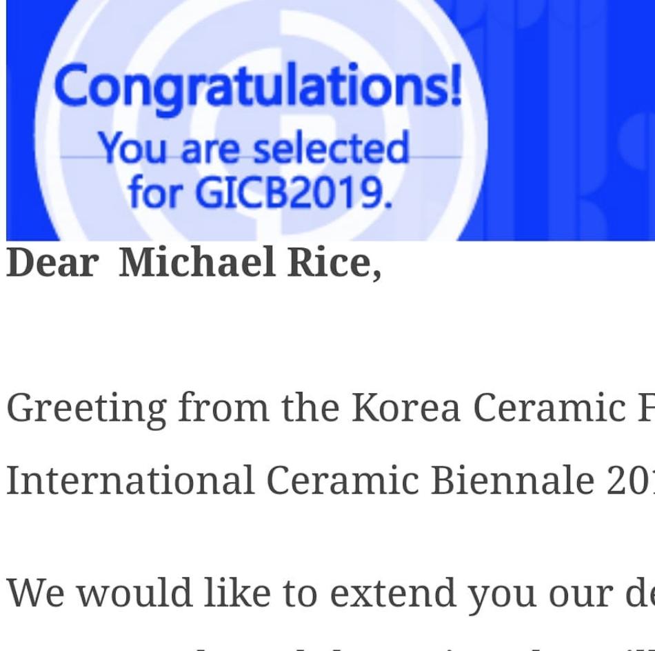 Selected for the 2019 Korean Ceramic Biennale