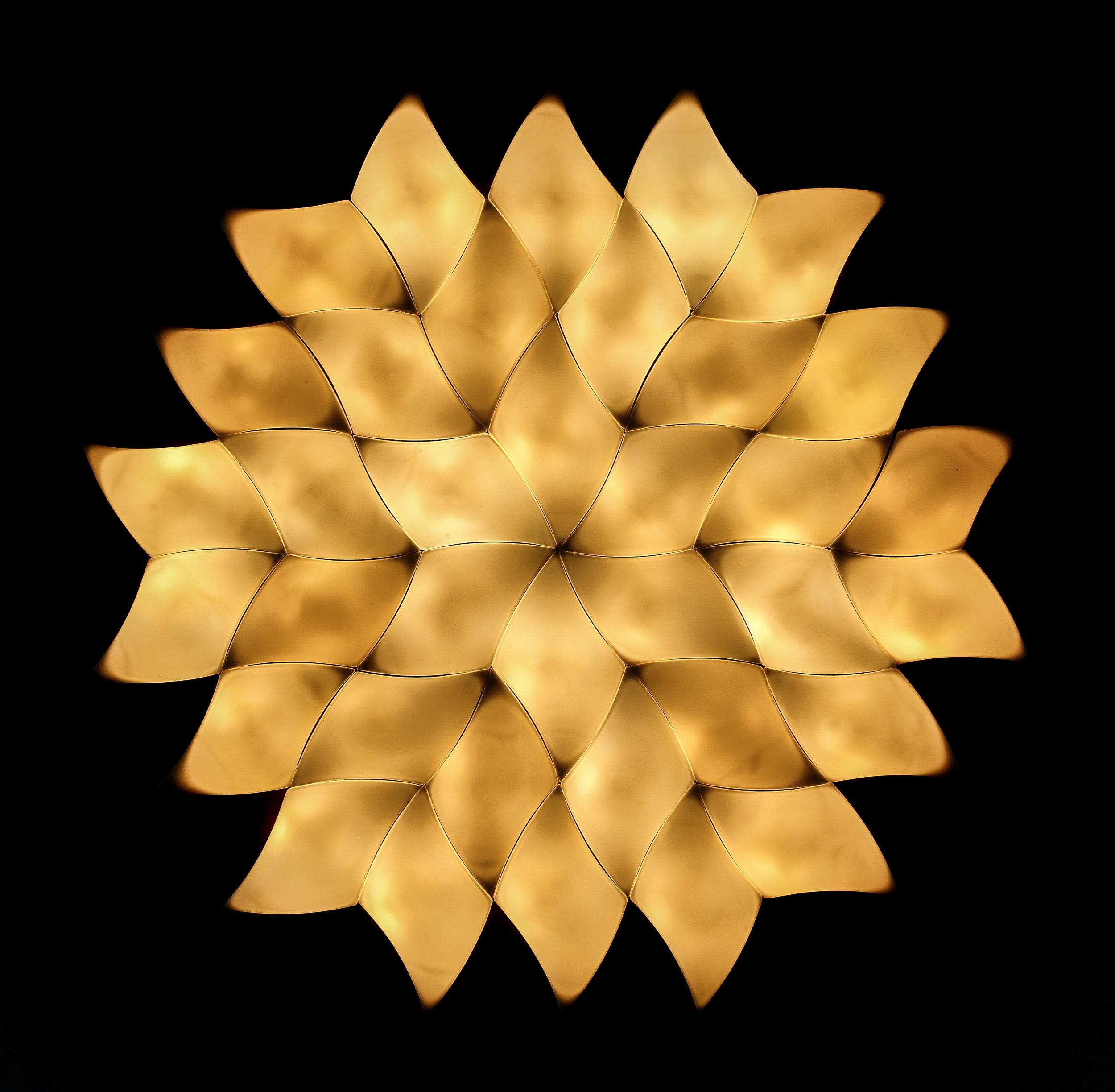 """""""Lotus"""" - Parian Porcelain light sculpture"""