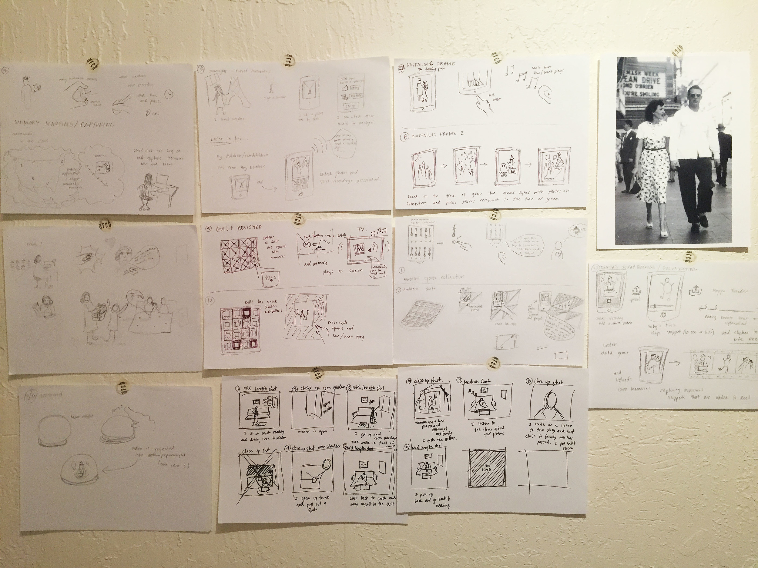 SKETCHING:  I used sketching as a brainstorming tool for ideation, using my own heirlooms as inspiration.