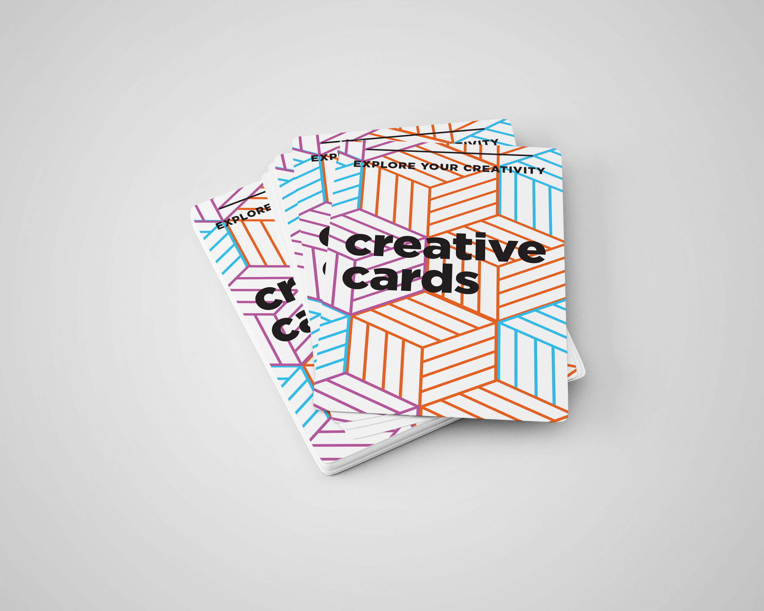 CREATIVE CARDS:    Our final design was a toolkit , a deck of 42 activity cards that highlight and celebrate  Creativity Explored's values.