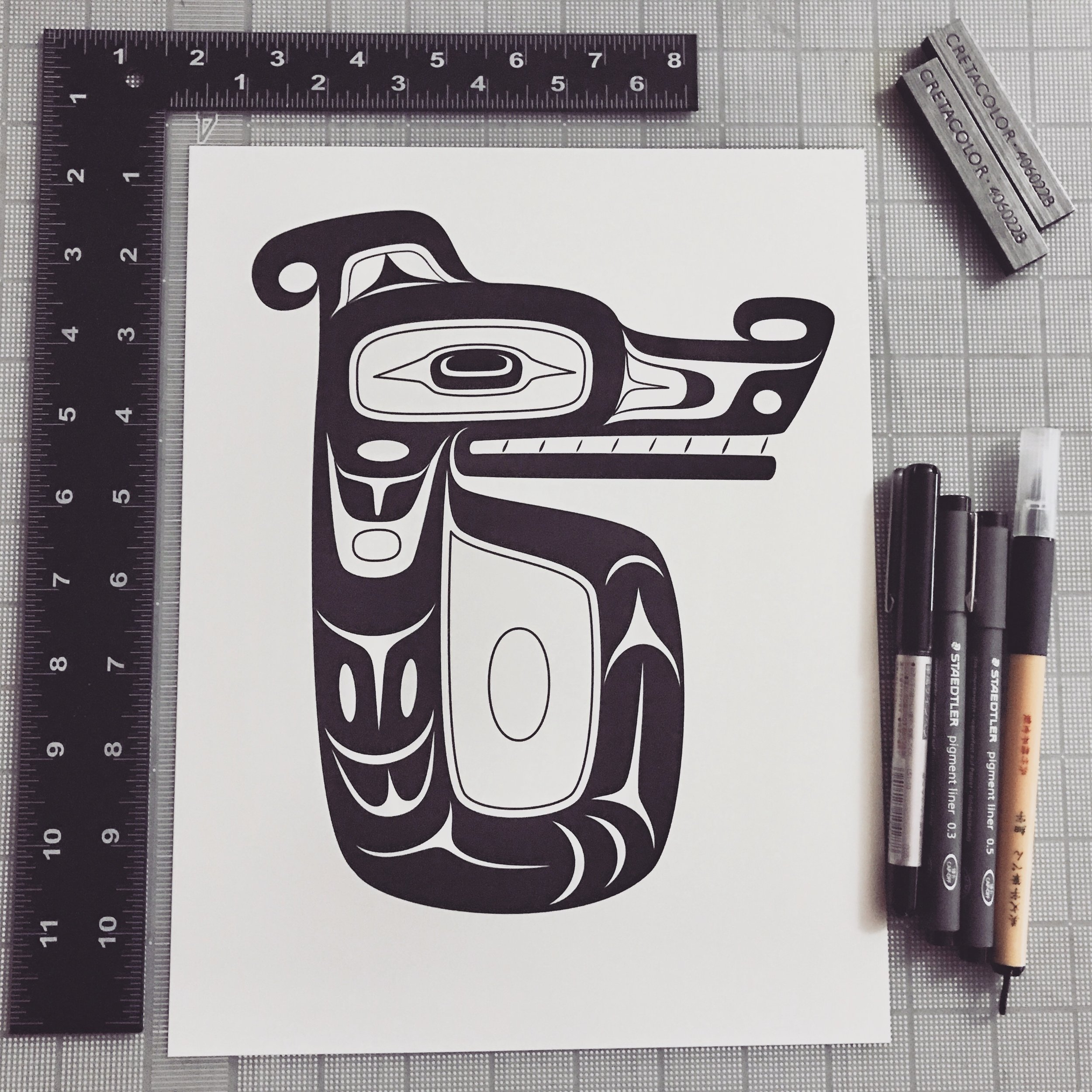 Anything you want day 31 Nuu-chah-nulth serpent