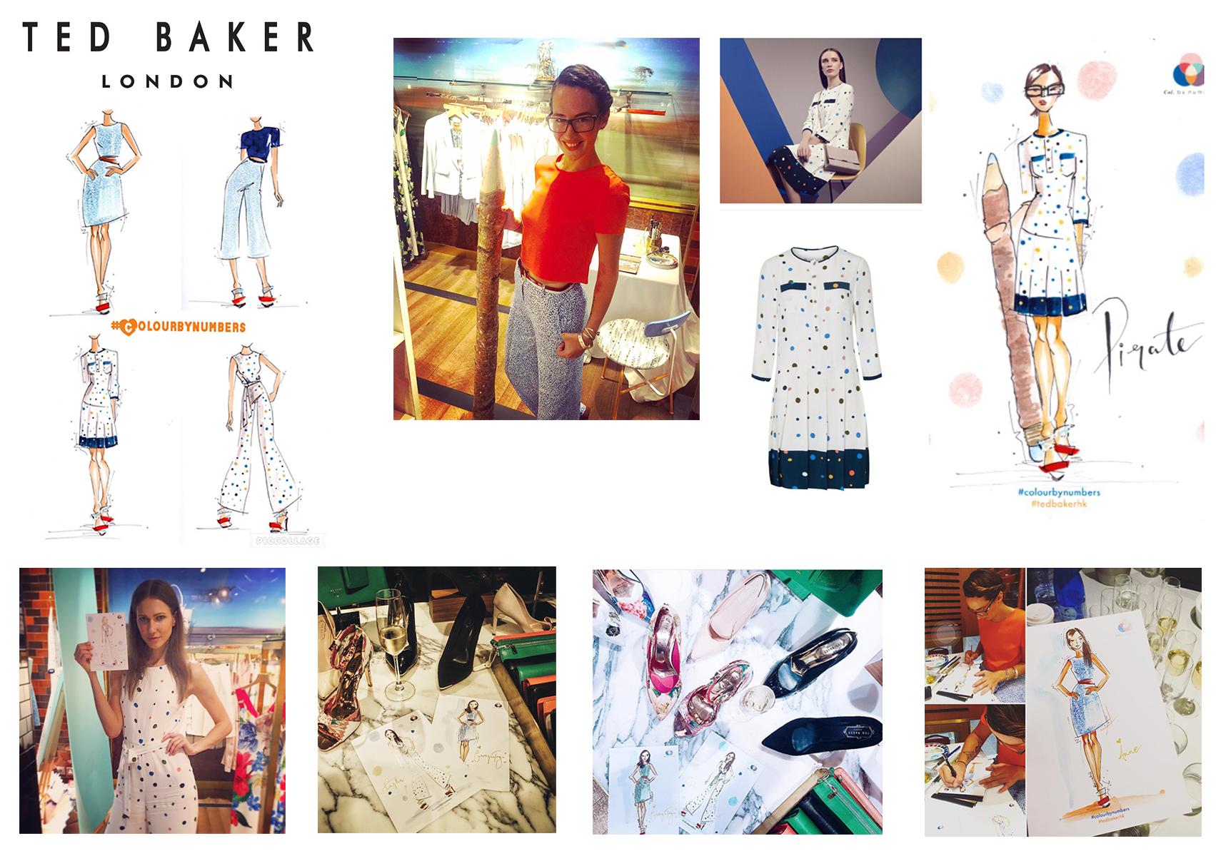 Ted Baker Live fashion illustration