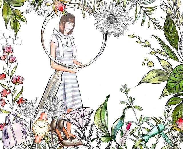 A forest of fashion fruits 👜👠💄. . . .#illustration #drawing #fashionillustrator #fashionillustration #sketch #Art #watercolour #hkartist #hkillustrator