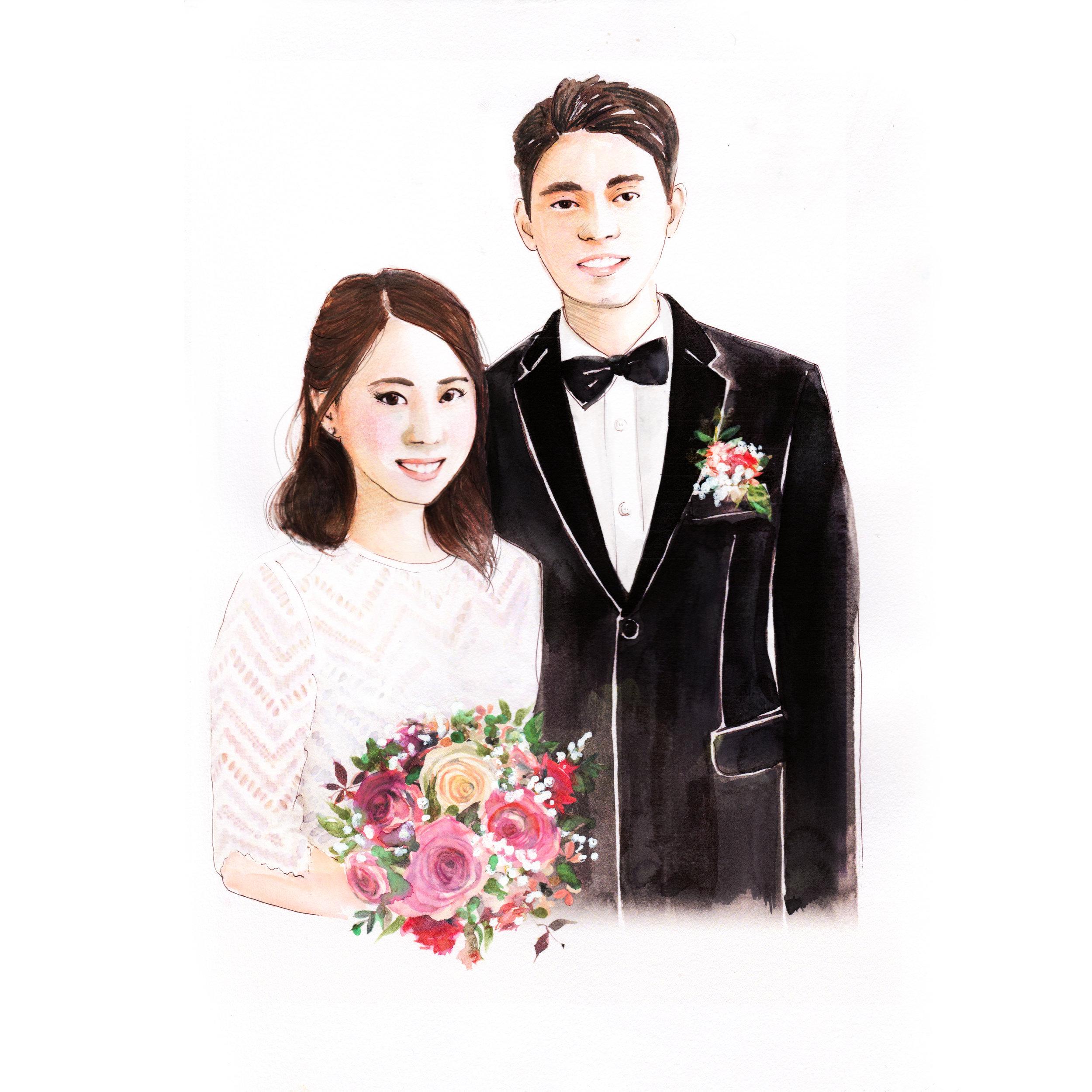 Illustration portrait hong kong