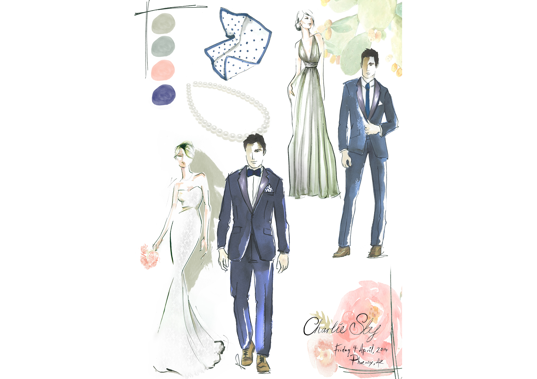 wedding party fashion illustration watercolour portrait.jpg