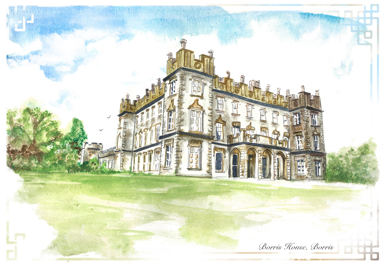 Borris House watercolour portrait.jpg