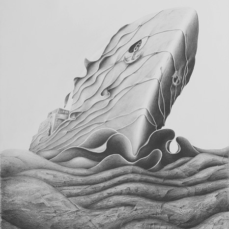 Mileniusz Spanowicz - Navigating The Sea Of Nonsence, 60x80, lead pencil painting. #mileniusz #spanowicz #artist #wildlife #photographer #explorer #environmentalist #drawing #paper #pencil #pencildrawing #famous #extraordinary #nature #art #artgallery #bern #switzerland