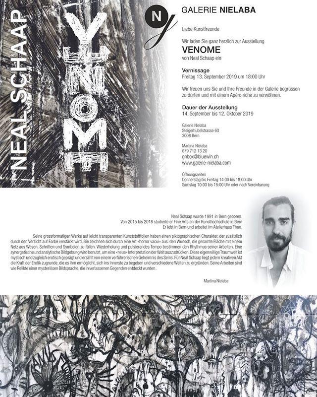 VENOME von Neal Schaap #venom #exhibition #neal #schaap #nealschaap #art #artgallery #fineart #free #imagination #feeling #swissartist #seeyouagain #friends #abstraction #symbol #culture #artwork #live #love #believe #spirit #bern #switzerland #invitation