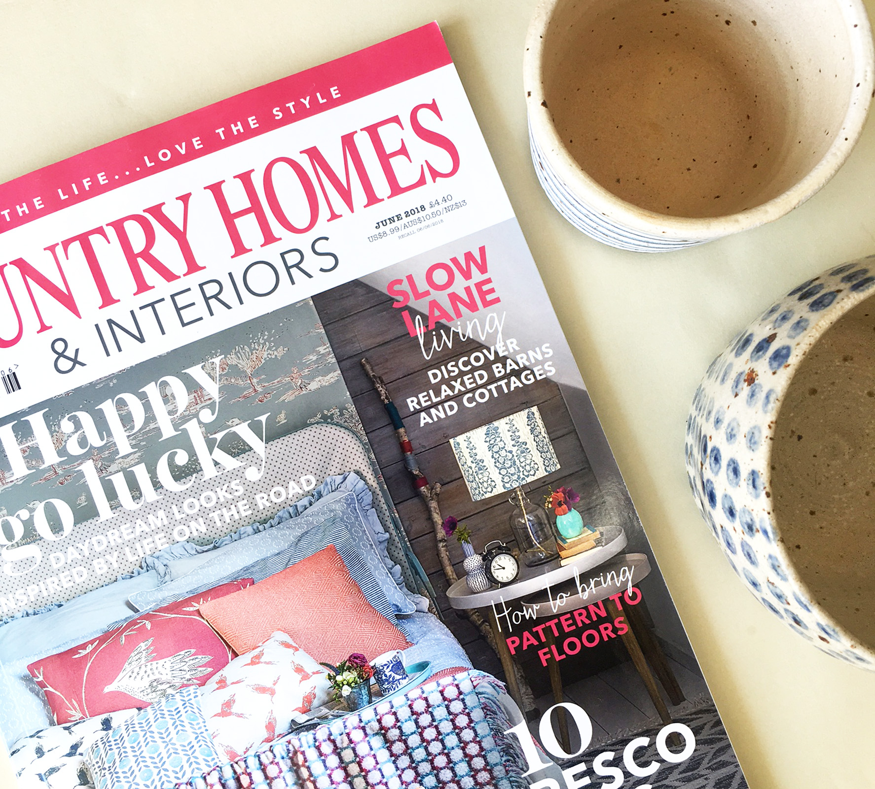 Happy Summertime! My flower pots have been featured in life style magazine  Country Homes & Interiors  June issue 2018. The magazine features the modern country style living and has lots of information about plants and gardening. Thank you very much Holly!   @pollipots   #pollipots   #feature  #countrystyle   #juneissue   #countryinteriors  #interiorsmagazines   #countrysummer    #pots   #planters   #pattern