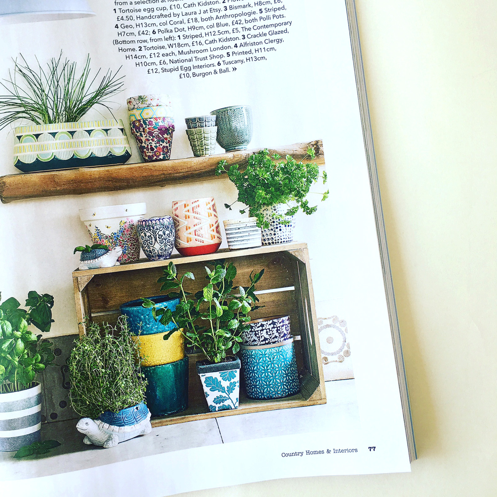 Country homes & interiors magazine Polli Pots planters 2.jpg