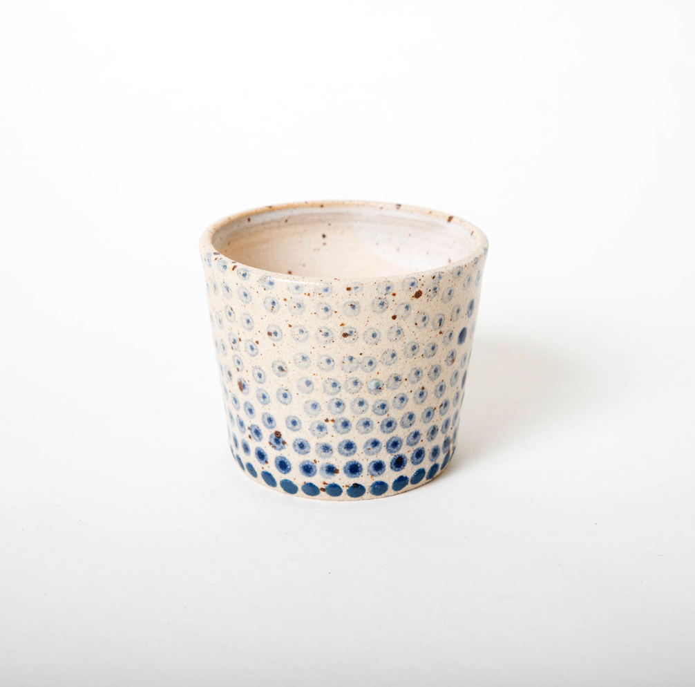 - I love my blue dotted polli-pot! It came very carefully packaged. I loved the added touch of a handwritten note on the pretty leaf card. I would not hesitate to buy from this shop again. Thanks!Megan from Canada