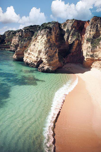 VISION BOARD - January 2017, I created my board and added this image of a beach in Portugal. I had no idea what it was called or where it was in The Algarve. I just loved the photo!