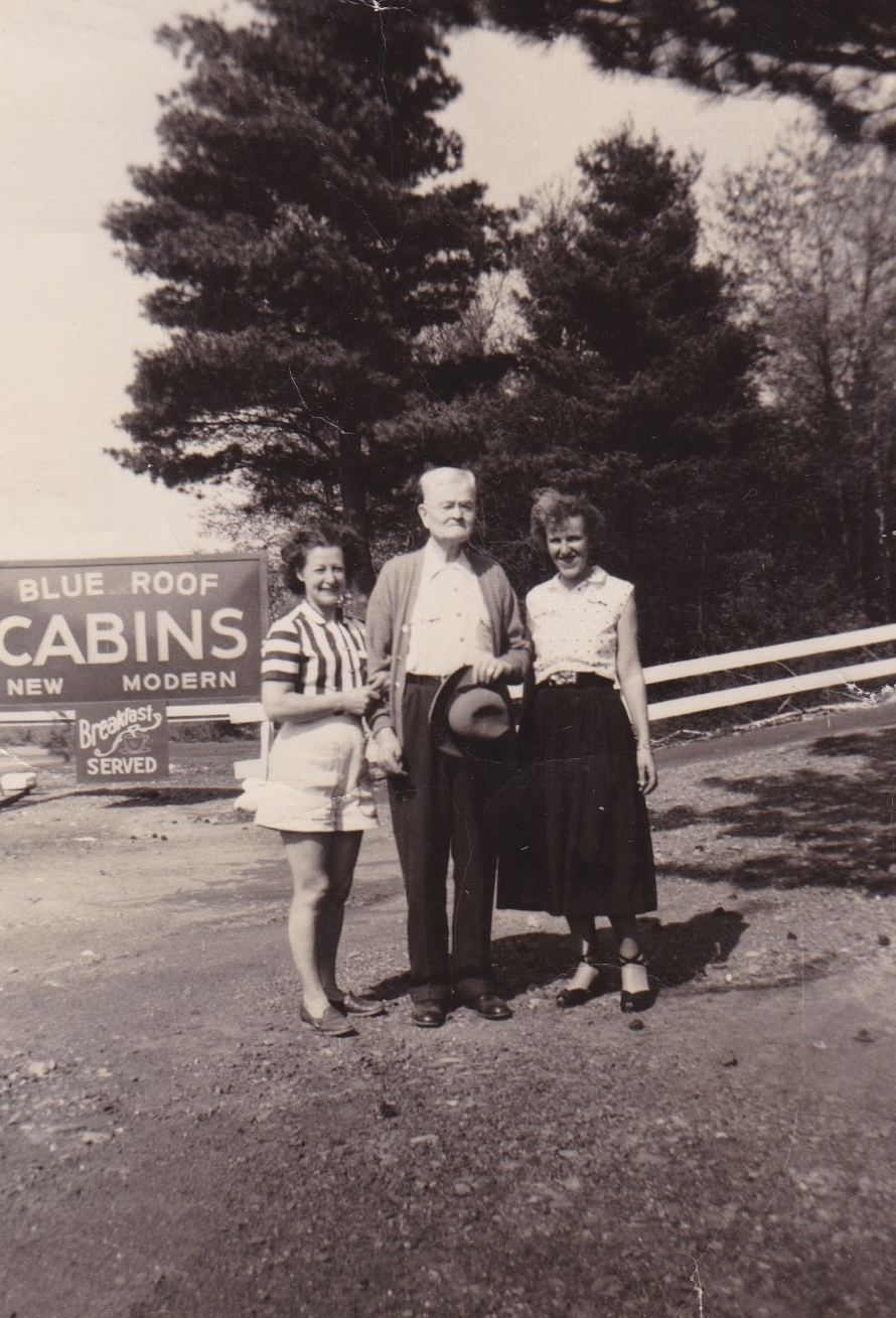 Earliest Known Photo of Blue Roof Motel