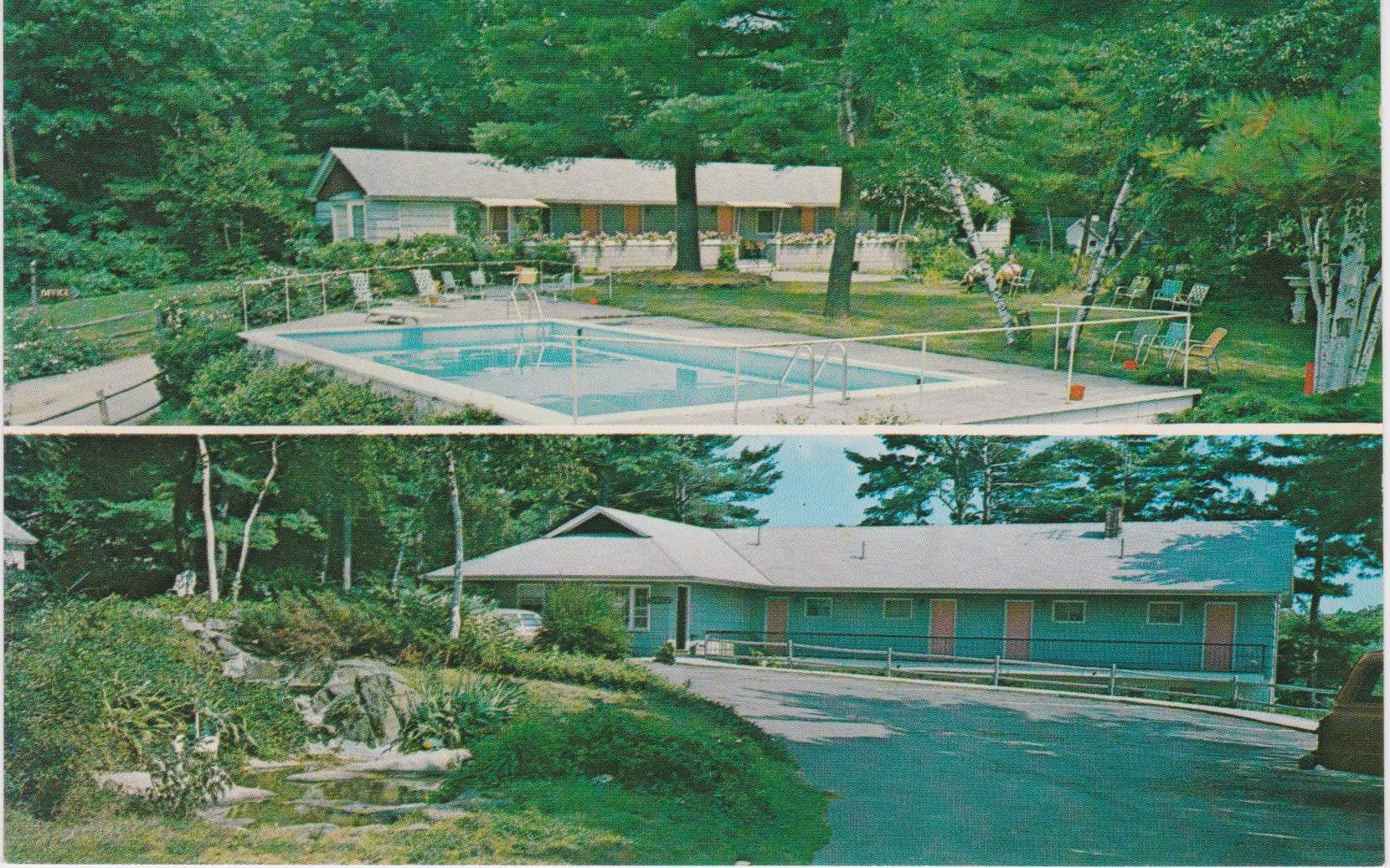 Blue Roof Motel Postcard