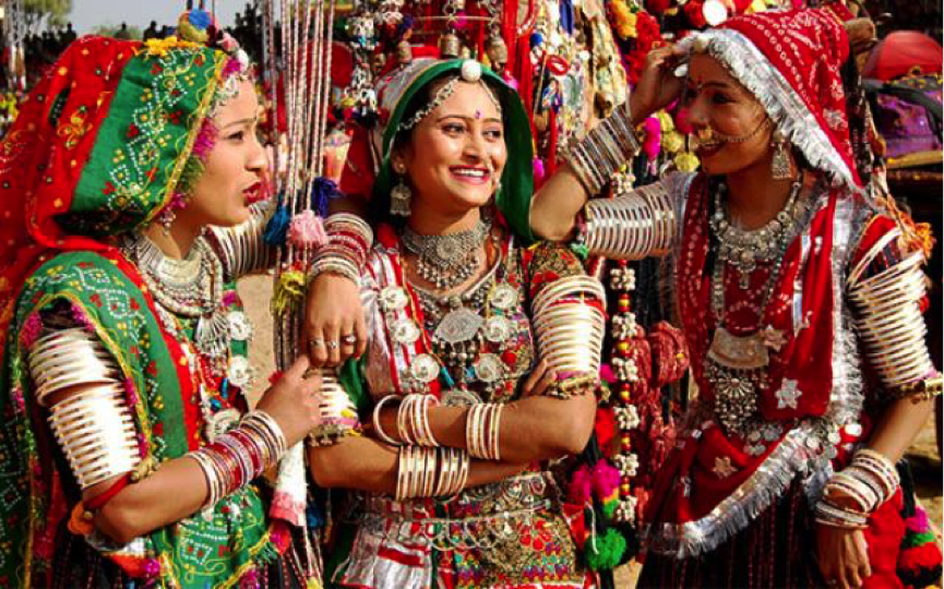 Festival attire in Rajasthan India
