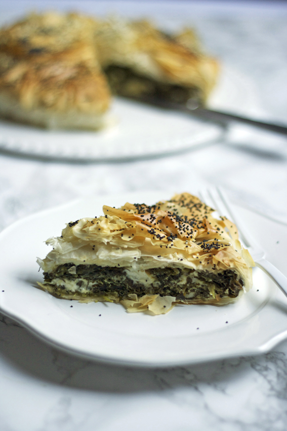 double green filo pie