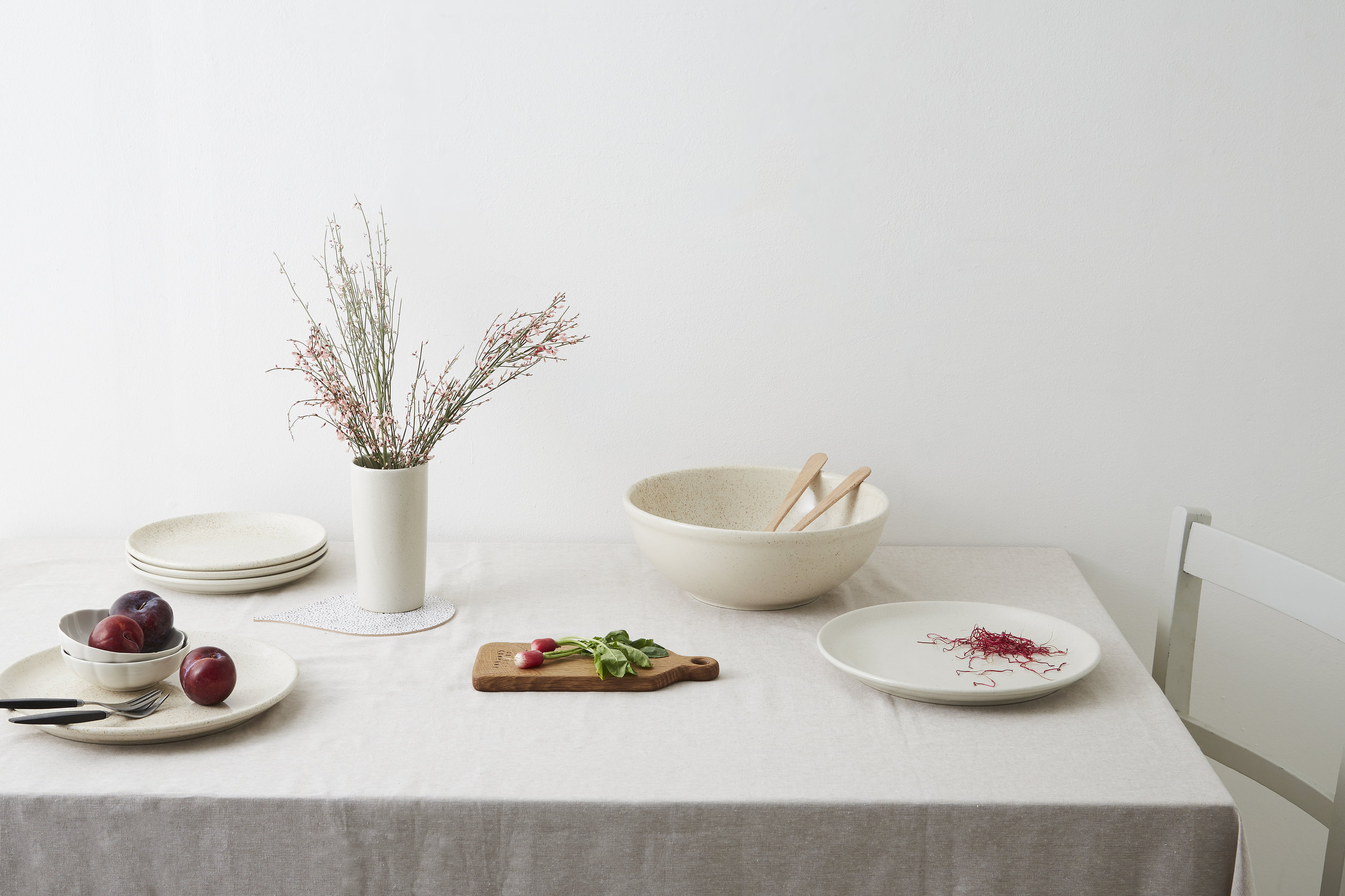 new speckled stoneware from minor goods