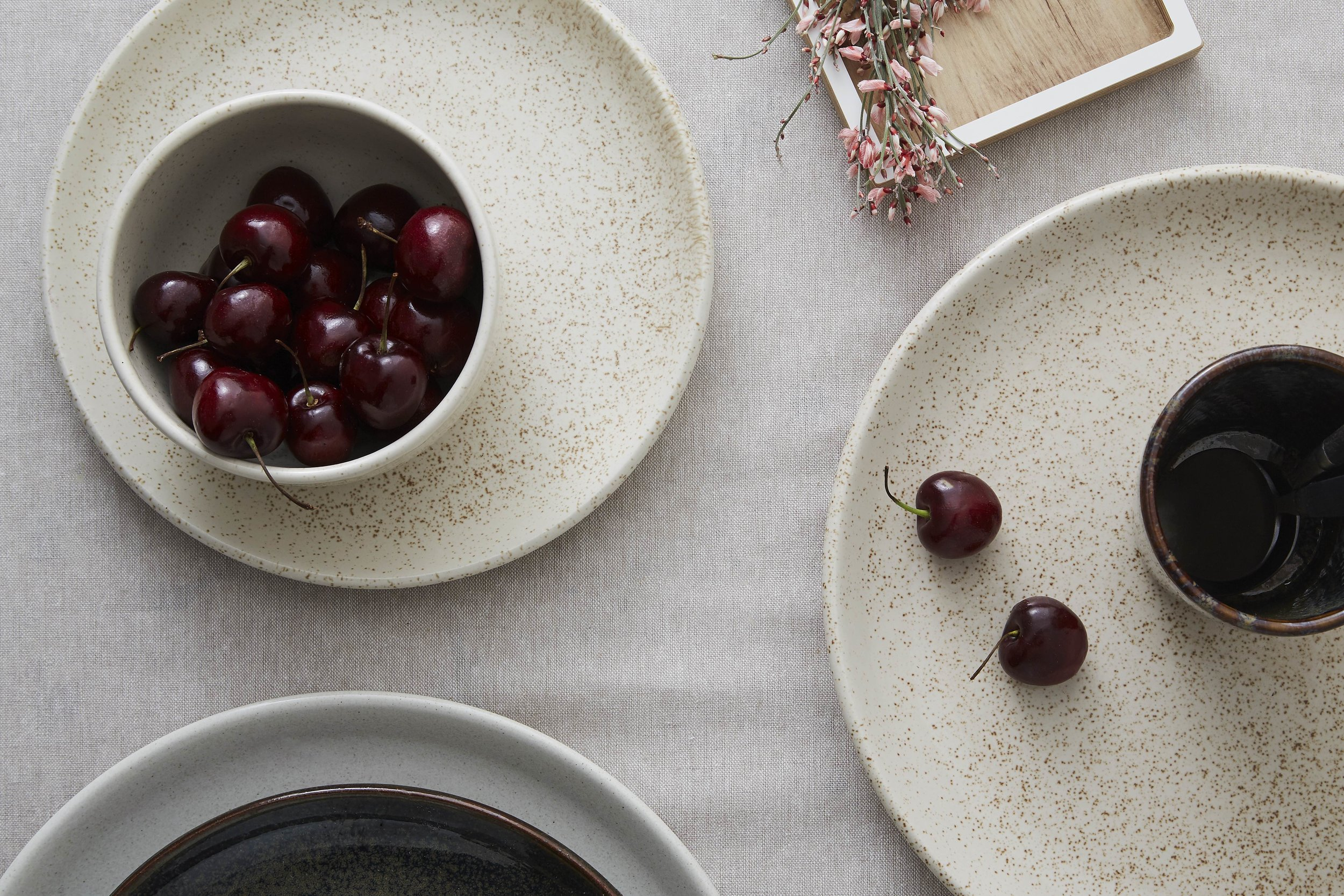 Minor Goods Speckled Stoneware plates flat lay high res.jpg