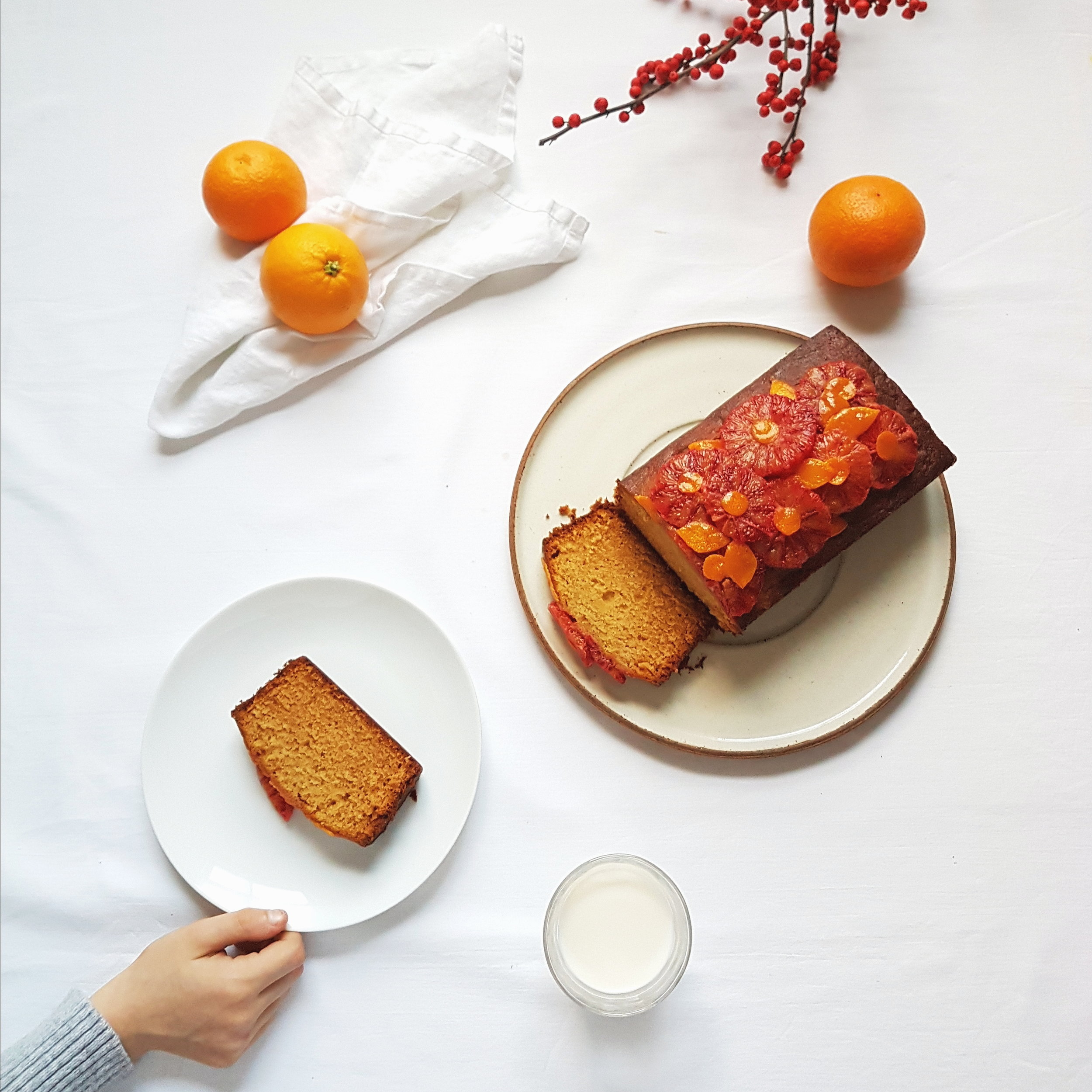 Blood orange + marmalade cake