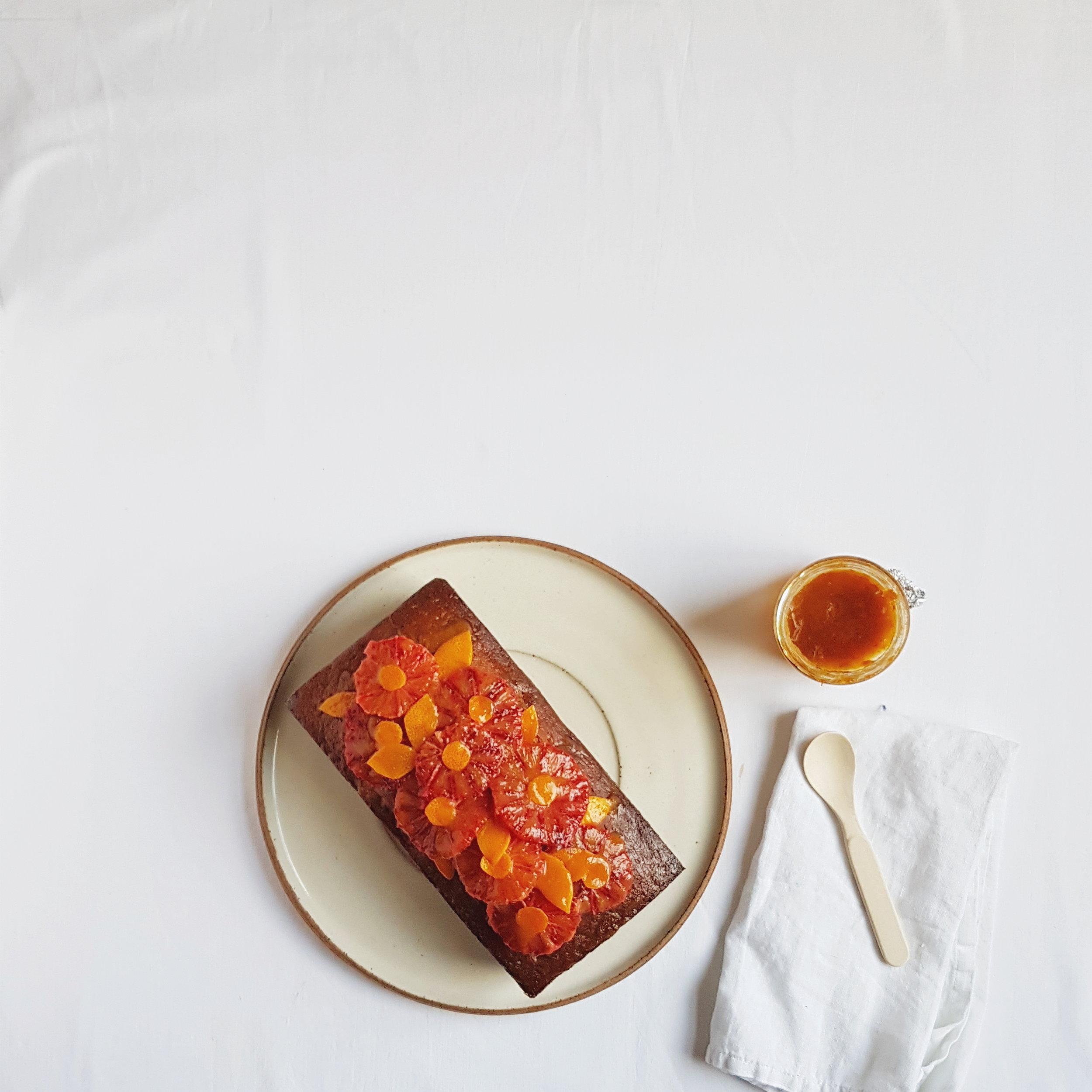 Blood orange + marmalade cake