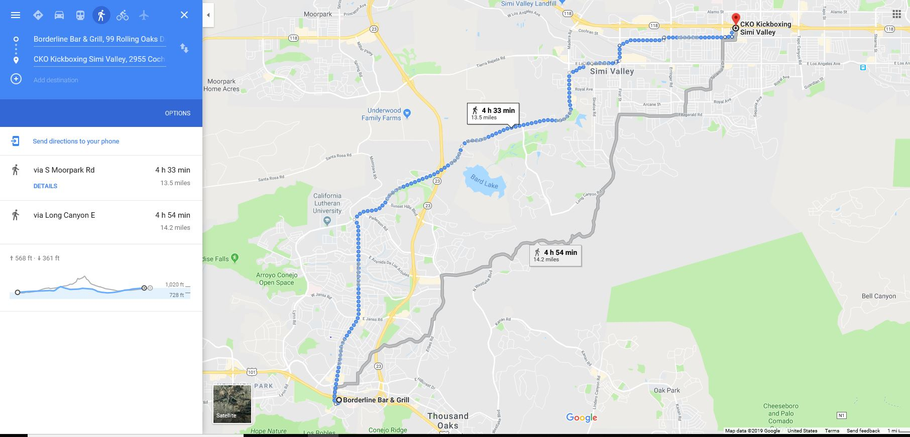 13.5 Mile Run - checkpoints830am Thousand Oaks-Borderline Bar & Grill (commemoration & Soldier Salute)-run1030am CKO Simi Valley (Interview)