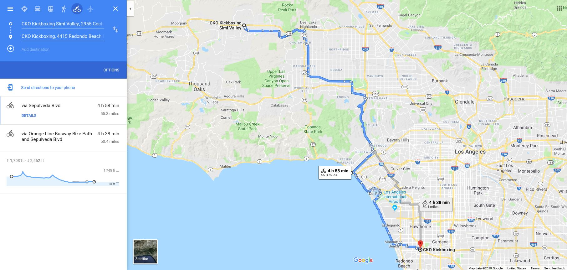 55 Mile Bike Ride - checkpoints11am CKO Simi valley-ride430pm CKO South Bay (interview)530pm CKO South bay kickboxing class (gloves required)