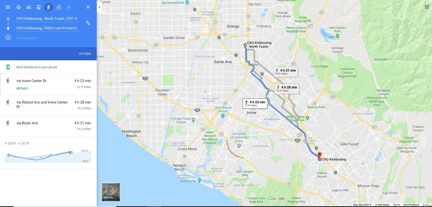 13 Mile Run - Checkpoints10am CKO North Tustin -run1230pm CKO Laguna Hills (break & interview)