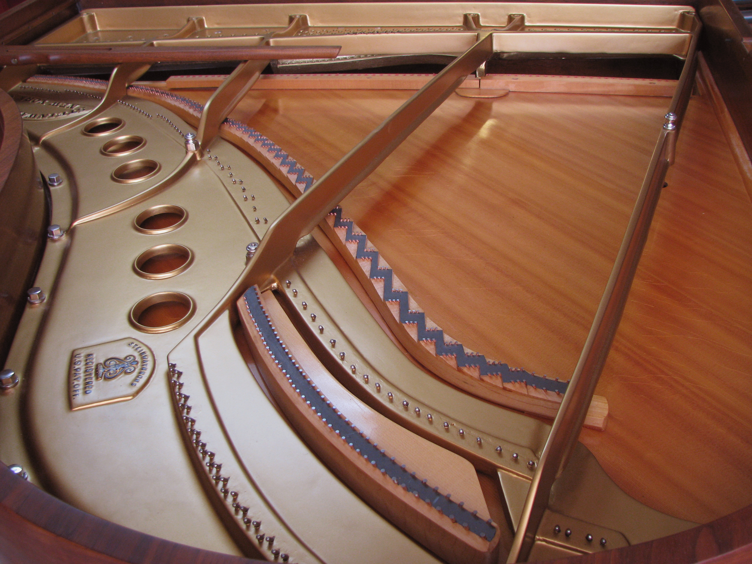 Steinway Model M plate finish