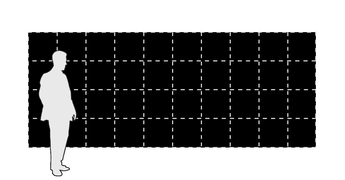 BREAKFAST Flip-Disc Display modular panels - 10 x 4 layout