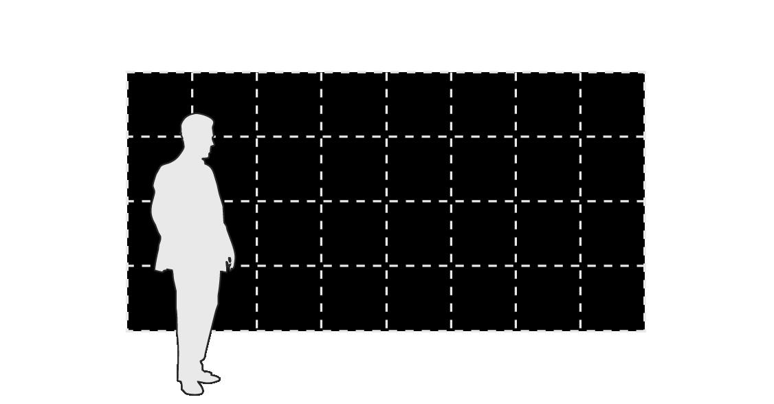 BREAKFAST Flip-Disc Display modular panels - 8 x 4 layout