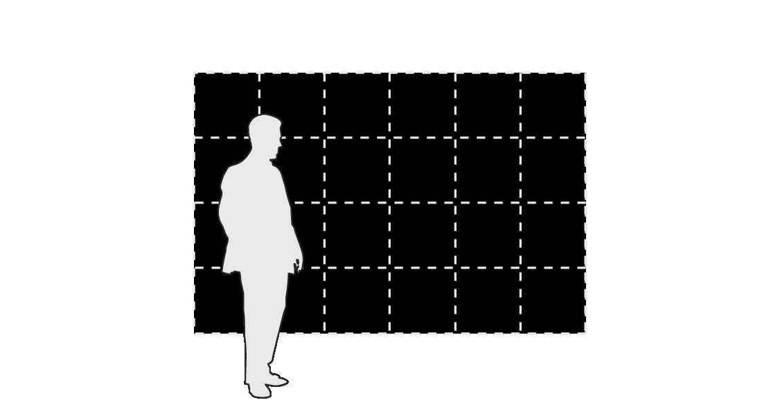 BREAKFAST Flip-Disc Display modular panels - 6 x 4 layout