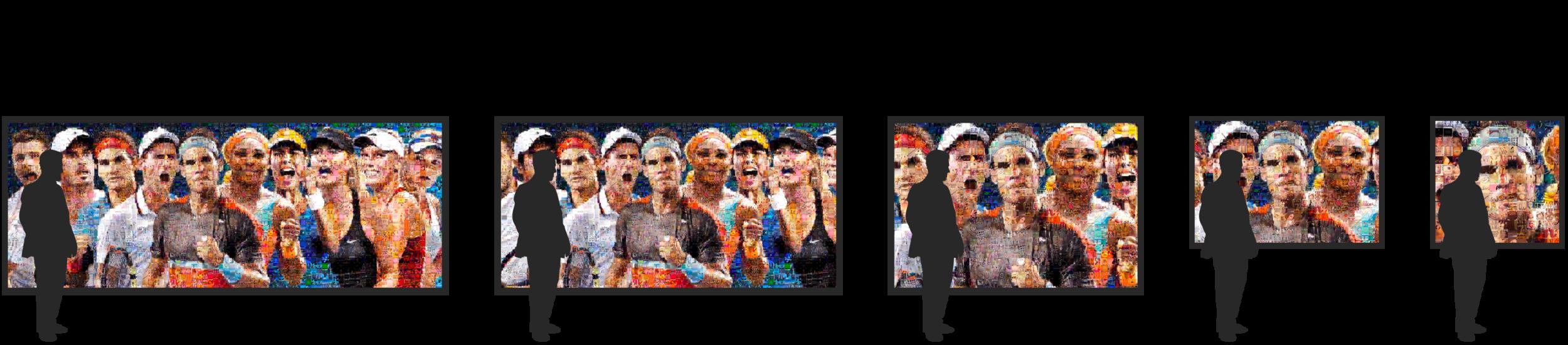 Hashtag Mosaic Size Options
