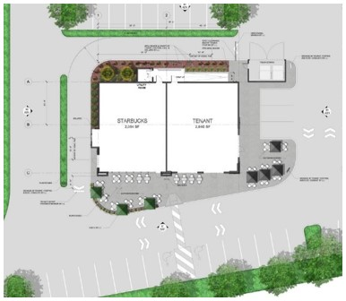 4,000sf, Two-Tenant Pad Site