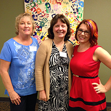 Jacque Alejos, Facilities Analyst; Lois Standring, Chief Business Office; and Jacque Eischens, Finance Team Lead