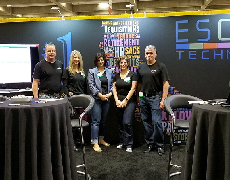 Mike, Jennifer, Elen, Arin and Ali working the Escape booth.