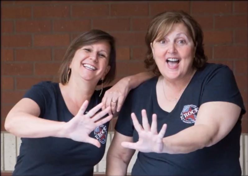 The way wild ladies, Leslie Bailey, Technical Writer, and Terri Hammond, System Trainer.