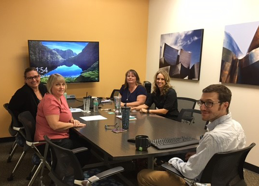 Pictured from left to right: Michelle Baker, Administrative Assistant; Noelle DeBortoli, Director, Human Resource Services; Chinny Clawson, HR Analyst; Lourie Larcade, Business Services Support Specialist; and Brian Stokes, Software Support Analyst, Escape Technology.