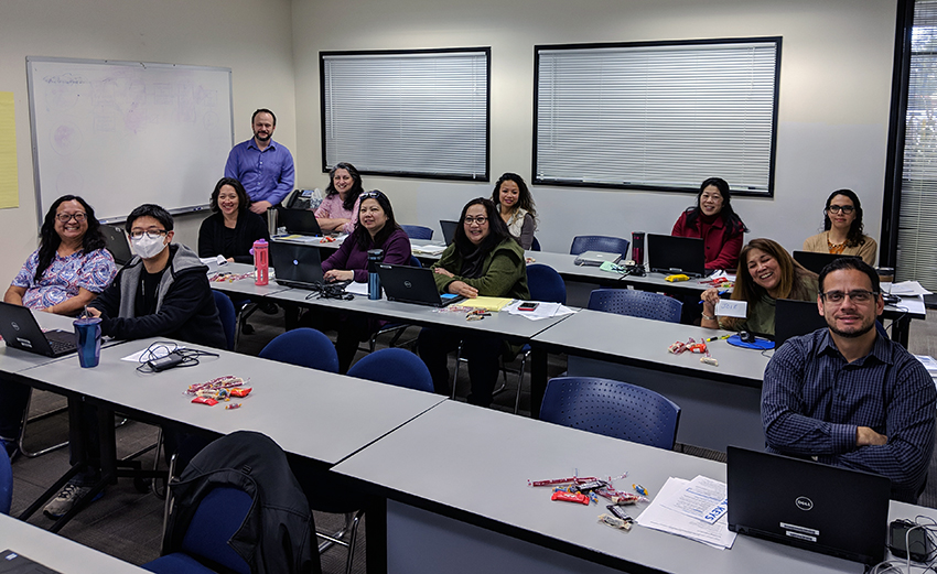 Picture Above: Participants in the training class at Alameda USD.