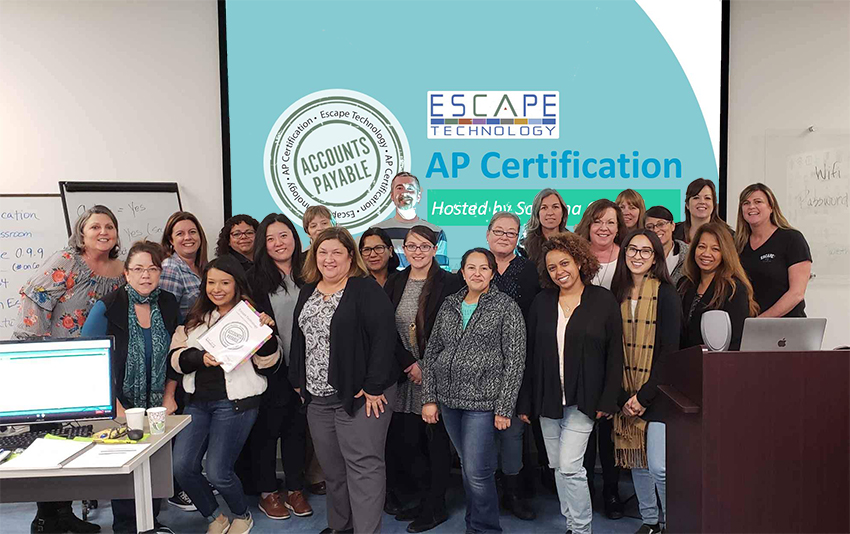 Enthusiastic attendees at the AP Certification course in Sonoma COE.