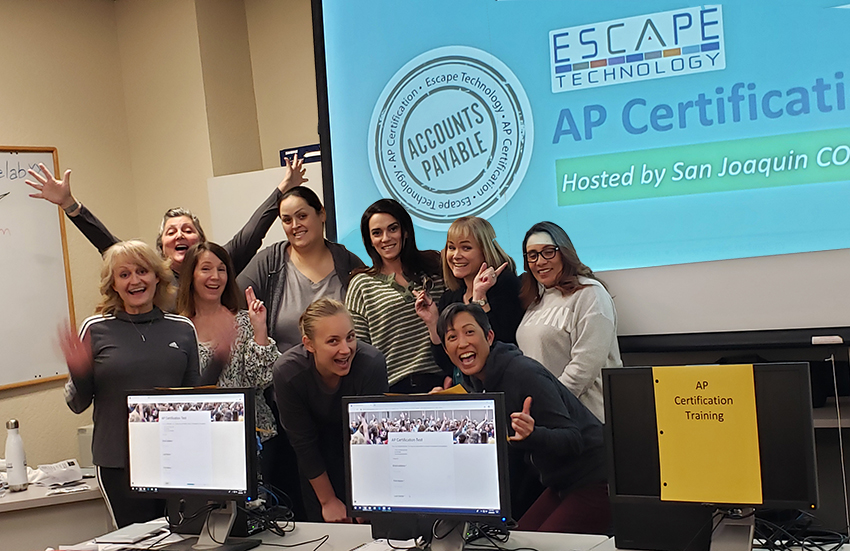 The happy group of newly certified San Joaquin County Escape AP users!