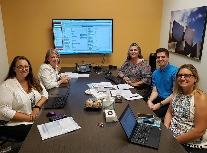 Pictured left to right: Shawndra Rentschler, Business Information Systems Support Specialist with Solano COE; Lora Sutherland, Escape Support Analyst; Terri Hammond, Escape Training Manager; Cole Herrin, Escape Support Analyst; and Michelle Mallory, Business Information Systems Support Coordinator with Solano COE.
