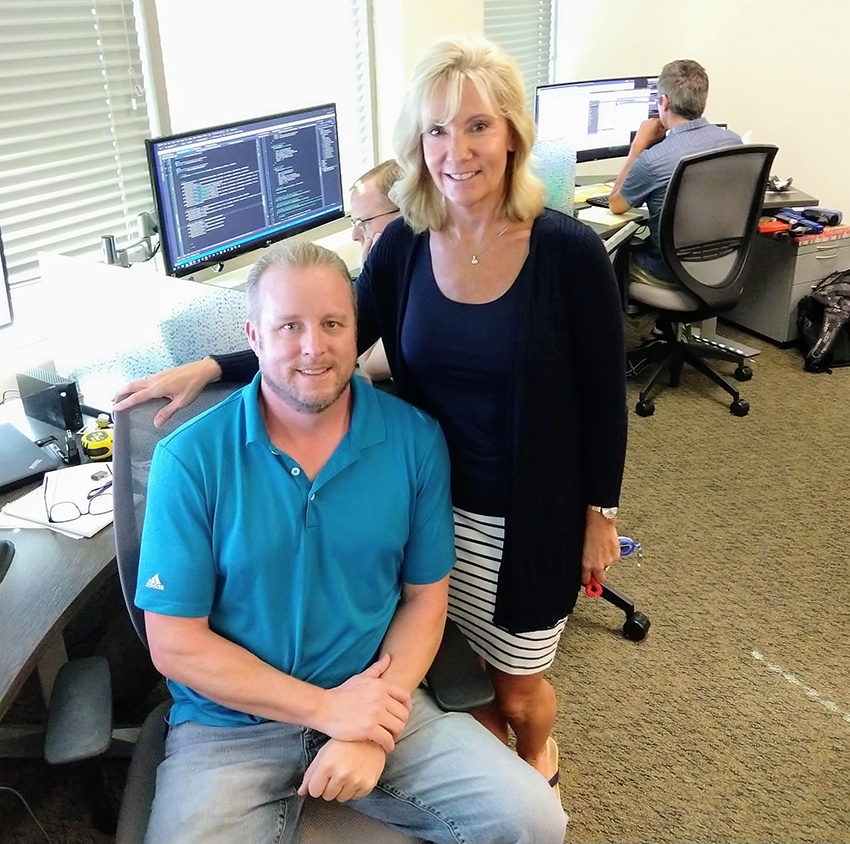 Mike Long, Escape IT Manager and Ramona Marshall, President of Escape Technology.