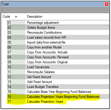 Having the ability to choose when you calculate projection years makes budgeting work with your processes!