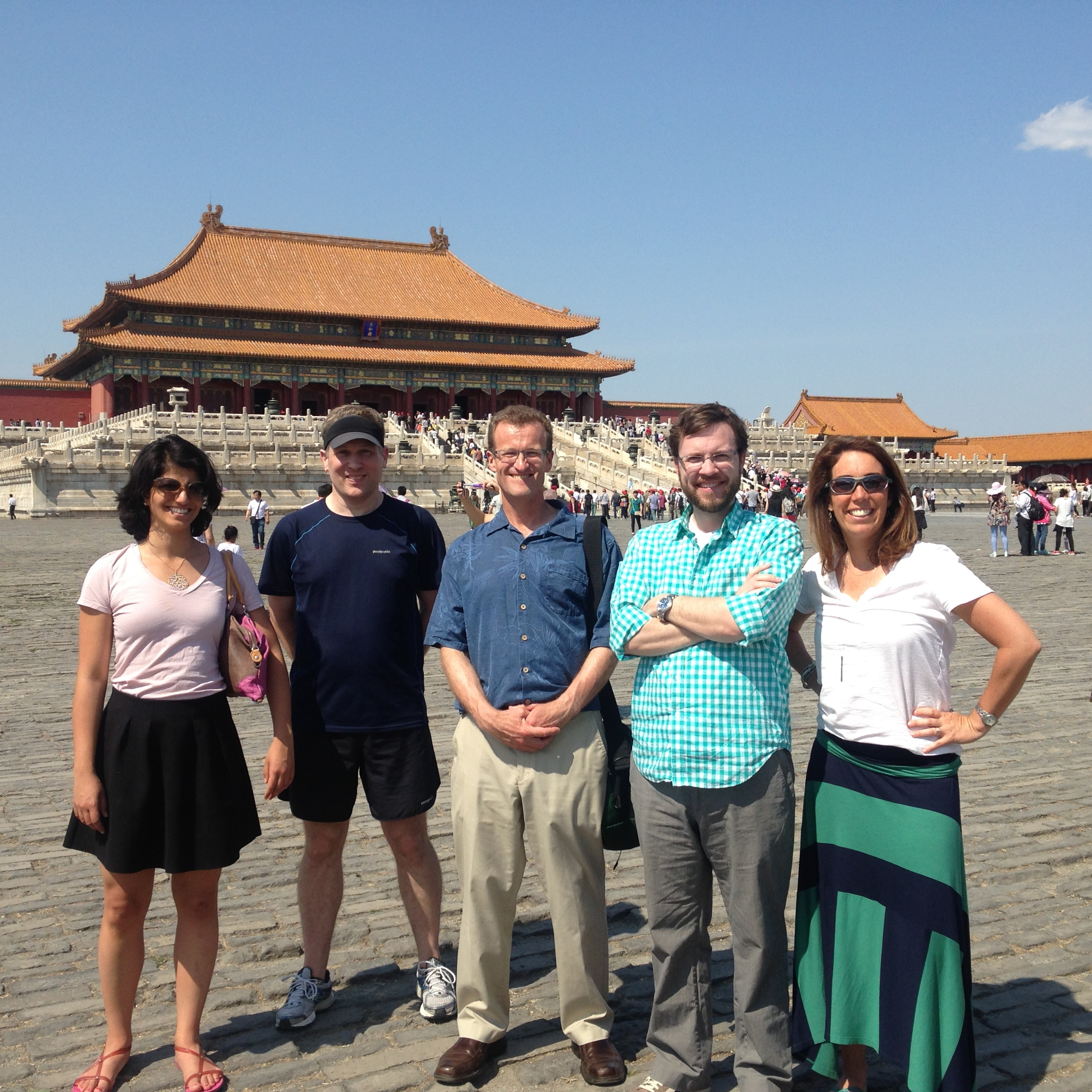 Sightseeing at the Forbidden City.