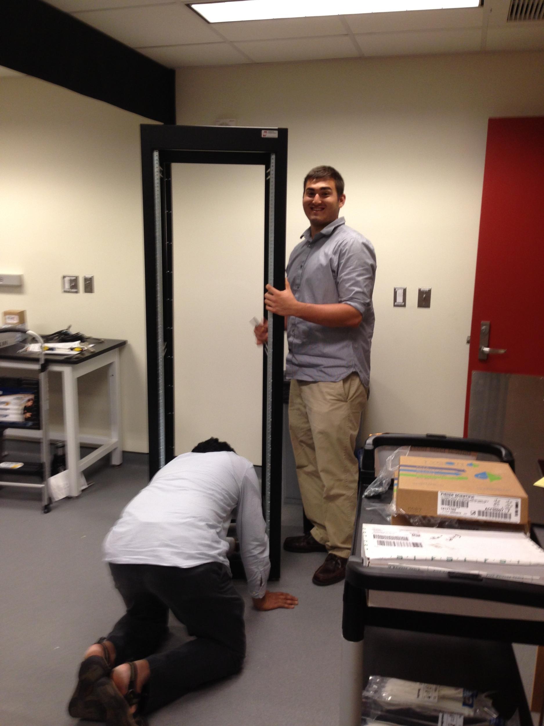 Vardhan and Derrick hard at work.