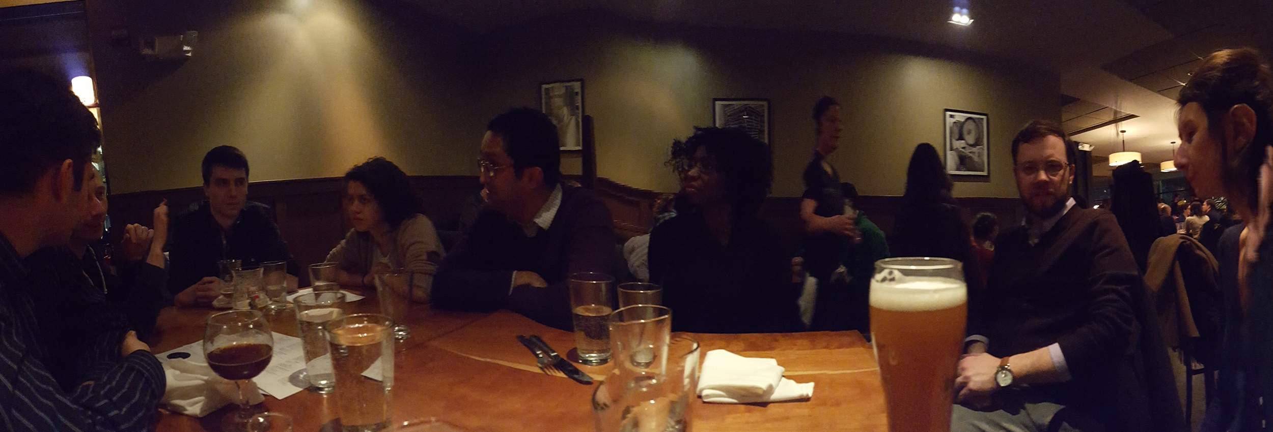 Mateo is testing out the panorama function on his phone with dubious results...